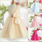 Gold Beige Wedding Party Dresses Bridesmaid Flower Girls Dress AGE SIZE 2 to 10Y