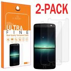 2-Pack Premium 9H Real Tempered Glass Clear Screen Protector for Motorola Moto Z