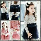 FREE SHIPPING Kid Christmas Wedding Party Flower Girls Dresses SIZE 2 3 4 5 6 7Y