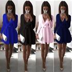 Fashion Women Summer Long Sleeve Evening Party Cocktail Casual Short Mini Dress
