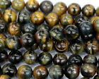 Natural Yellow Blue Tiger Eye Round Loose Beads 4-16mm Discount for Wholesale