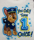 PAW PATROL CHASE AIRBRUSH T SHIRT NEW PERSONALIZED INFANT, TODDLER & YOUTH SIZES