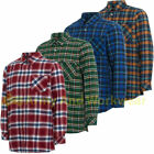 Mens Lumberjack Flannel Shirt Brushed Warm Work Casual Shirts Check Long Sleeve