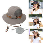 New Men Women Breathable Side Mesh Sun Hat Outdoor Anti UV Hiking Cap Foldable