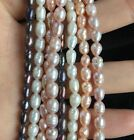 "New 38cm(15"") Jewelry making 1Strand Natural Freshwater Pearl Beads 4-5mm"