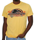 Harley Davidson Mens Screamin Eagle Flames Yellow Short Sleeve T Shirt