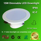 nebula LED Downlights 15W Dimmable ICF SAA IP44 120mm 1400LM Warm/Day/Cool White
