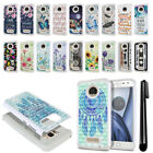 For Motorola Moto Z Play Droid XT1635 Anti Shock Bling HYBRID Case Cover + Pen