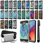 For LG G6 H873 US997 VS998 AS993 Shockproof Brushed Hybrid Cover Case + Pen