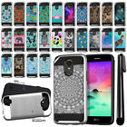 "For LG Stylo 3 Stylus 3 LS777 5.7"" Shockproof Brushed Hybrid Cover Case + Pen"