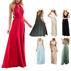 New Bridesmaid Evening Party Prom Gown Convertible Multiway Wrap Long Maxi Dress