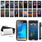 For Samsung Galaxy J1 J120 2nd Gen/ Luna Shockproof Brushed Hybrid Case + Pen