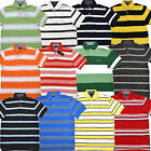 Tommy Hilfiger Polo Shirt Mens Classic Fit Mesh Short Sleeve Striped Knit New Th