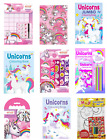 UNICORN EMOJI COLOURING BOOKS - Kids Activity A4 Fun Stickers Puzzle Games Smile