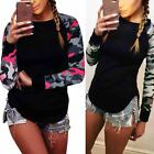 Fashion Womens Summer Long Sleeve Shirt Casual Blouse Loose Cotton Tops T Shirt