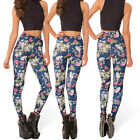 New Fashion Hipsters Womens Floral Digital Print Skinny Leggings Stretchy Pants