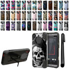 For HTC Desire 530 630 Hybrid Dual Layer Kickstand Protective Case Cover + Pen