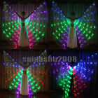 rechargeable led isis wings glow dancer belly dance light up costumes sticks bag