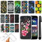 For ZTE Grand X 3 X3 Z959 Warp 7 Slim Soft TPU Silicone Clear Case Cover + Pen