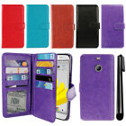 "For HTC Bolt / 10 Evo 5.5"" Flip Card Holder Cash Slot Wallet Cover Case + Pen"