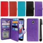 For OnePlus 3 3T Three Flip Card Holder Cash Slot Wallet Cover Case + Pen