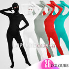 Unisex Lycra Spandex Unitard Full Body Open Eyes Long Sleeves Full Foot Elastane
