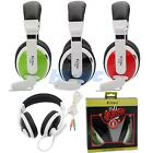 T155 3.5mm Dual Jacks Plastic Headset Gaming Sport Earphone for PC iPhone MP3 US