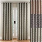 Astoria Lined Ring Top/Eyelet Curtains (Pair) - Choice Of Three Colours
