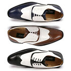 Metrocharm MC113 Men's Wing Tip Perforated Lace Up Oxford Dress Shoes
