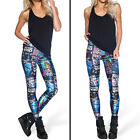 Hot Sale Womens Polyester Leggings Fitness Workout Trousers Print Galaxy Pants