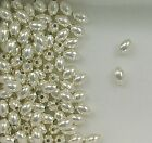 .925 Sterling Silver 3x5mm Plain Oval Spacer Beads, Choice of Lot Size & Price