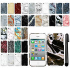 For Apple iPod Touch 4 (4th Generation) Marble Design HARD Back Case Cover + Pen