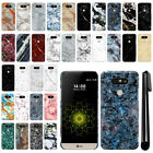 For LG G5 H850 VS987 Marble Design HARD Back Case Phone Cover + Pen
