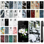 For LG K7 Tribute 5 LS675 MS330/ M1 Marble Design HARD Back Case Cover + Pen