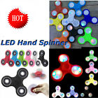 LED light Fidget Hand Spinner TRI Finger Desk Toy EDC Focus Gyro Tool 5 Colors S