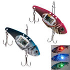 Fishing Crank Lures Bait Deepwater Salmon Pike Bass with Flashing LED Light