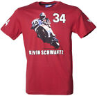 Authentic Official MotoGP Mens Supporters TShirt Kevin Schwantz Logo Red S XXL
