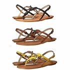 Coach Womens Camara Slip On Thong Toe Ankle Strap Buckle Flats Sandals Shoes