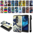 For Motorola Droid Turbo 2 Kinzie XT1585 Hybrid Bumper Protective Case + Pen