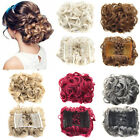 Comb Clip In Hair Bun Wave Curly Hair Piece Chignon Updo Cover Hair Extension