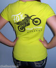 NWT FOX RACING RIDERS Black NEON Green MOTO GRAPHIC LOGO Shirt Top TEE S or M