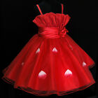 Kids Red Communion Wedding Party Flowers Girls Dresses AGE SIZE 2-3-4-5-6-7-8-9Y