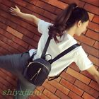 Fashion Womens Faux Leather Small Mini Backpack Collegiate Girls Shoulder Bags