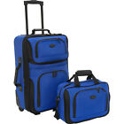 Traveler's Choice Rio 2-Piece Lightweight Carry-On Luggage Set NEW фото