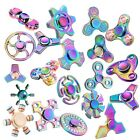 Rainbow Hand Spinner Fidget Stress Titanium Alloy EDC High Speed Focus Deck Toy