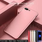 Ultra thin 360° Full Body Hrbrid Case +Tempered Glass Cover For iPhone 7 Plus