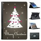 Merry Christmas With Christmas Tree & Star Decoration Leather Case For iPad Mini