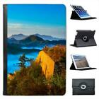Qinhuangdao, Mountains Mist In Forest Folio Leather Case For iPad Mini & Retina