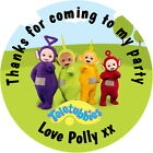 TELETUBBIES PERSONALISED GLOSS BIRTHDAY PARTY , SWEET CONE STICKERS