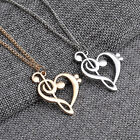 Women's Stylish Simple Hollow Musical Note Heart Pendant Chain Necklace Hot Cool